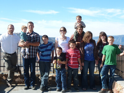 Participants and families visiting our Christian rehab ranch .